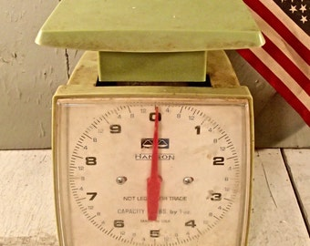 Hanson, Vintage Hanson Scale, Kitchen Scale, Green Scale, Antique Scale