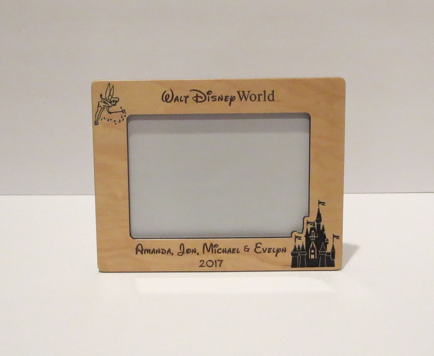 walt disney world 5x7 or 8x10 your choice picture frame personalized family frame family name frame disney picture frame