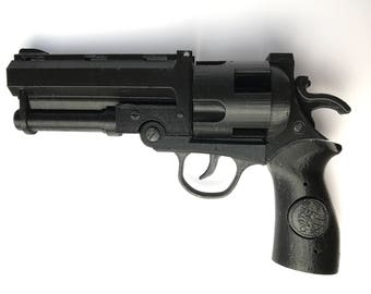 Hellboy The Good Samaritan Gun / Rifle / Blaster / Pistol and 4 Bullets - Perfect for Cosplay, Comic Con, Halloween, Birthday