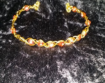 Wire Wrapped Beaded Head Band