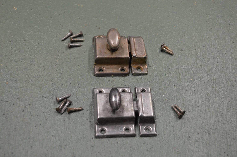 Cupboard door latch cabinet hardware retro cupboard for Door latch parts