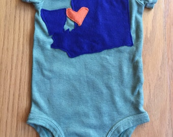 Washington State Love Onesie! (Custom made)