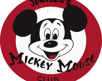 Iron On Transfer Paper Mickey Mouse Club T shirt Transfer Mickey Mouse Club 3 Sizes to Pick
