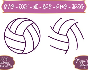 Volleyball SVG - Sports Balls SVG - Volleyball Outline SVG - Sports svg - Volleyball - Files for Silhouette Studio/Cricut Design Space