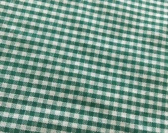 Gingham Fabric Vintage Green. 1/3 yd. Green Gingham Fabric. Gingham Fabric Green. Small Check Fabric. Green Blender Fabric