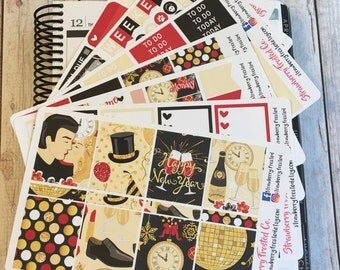 Happy New Year Themed Kit---- Weekly Planner Kit ---- {Includes 250+ Stickers}