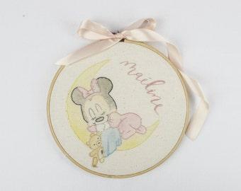 NEW! Custom Baby Character Hoop - Nursery Heirloom