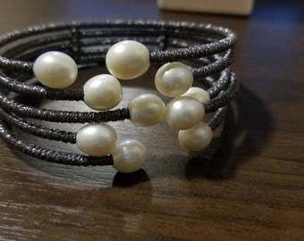 Vintage Fashion Real Pearl Bracelet