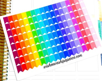 Rainbow Page Flag Stickers - Page Flags - Page Flag Stickers - Page Flag Kit - Planner Stickers