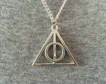 Handmade Deathly Hallows Inspired Necklace