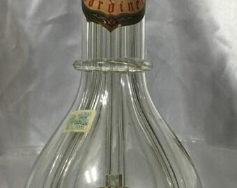 Vintage Four-Chambered Bardinet Brandy Liquor Decanter Bottle Made in France.