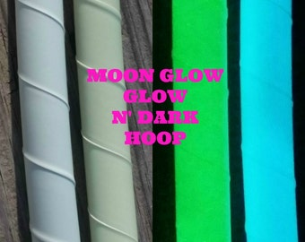 Moon Glow- Blue or Green Glow in the Dark Hula Hoop- Made to Order (3/4, 11/16, 5/8 Polypro/HDPE) *Free Crystal Clear Protection Tape!