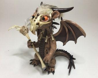 Korowai the Dragon - OOAK Polymer Clay Figurine