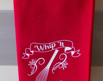 Kitchen Dish Towel, Red