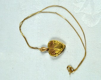 Victorian style gold filled heart locket