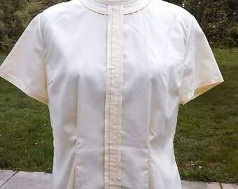 Vintage Charmelle Pilot button back blouse