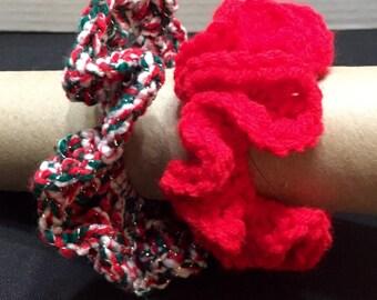 Hair Scrunchie I, Set of 2, Crochet Hair Scrunchie, Crochet Hair Tie, Ponytail Holder, Hair Accessory