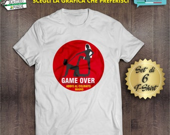 set of 6 T-shirt for bachelor party for man