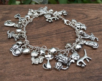 Reduced - The cats whiskers charm bracelet