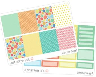 Summer Delight Set Planner Stickers