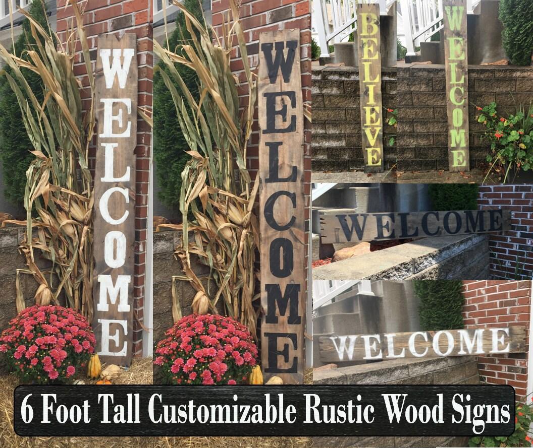 Patio Decor, Wooden Signs, Outdoor Decor, Outdoor Wood Signs, Outdoor  Wooden Signs, Large Wood Sign, Large Wooden Sign, Deck Decor, Welcome