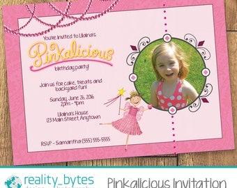 Pinkalicious Birthday Invitation with Photo (Printable)