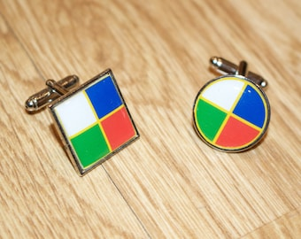 British and Irish Lions Cufflinks - Lions colours cufflinks - Custom designed cufflinks - Add your own personal touches - Rugby Cufflinks