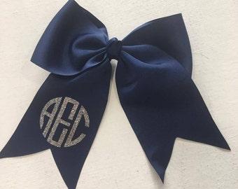 Monogrammed Hair Bow ~ Glitter!