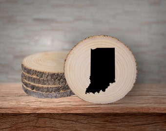Rustic Indiana Coaster Set