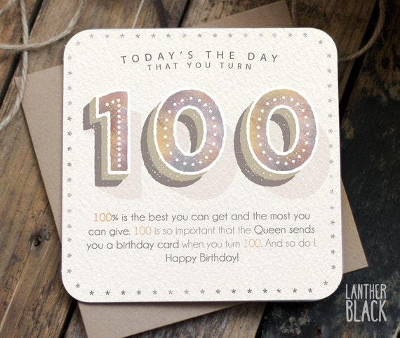 Funny 100th Birthday Card 100th birthday 100 by LantherBlack – 100 Birthday Card from Queen