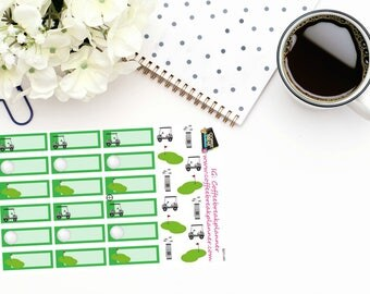 Planner Stickers|Golf Stickers|Golf Tracking Stickers|Cute Golf Stickers|For use in a variety of planners and journals| S011-HV