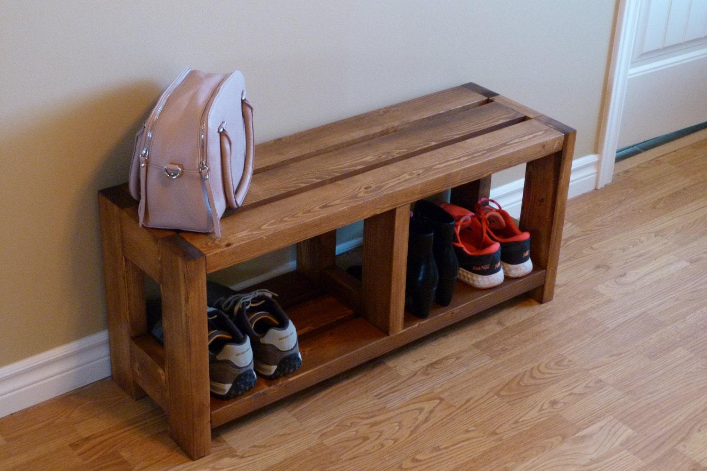 entryway rustic shoe bench shoe storage shoe organizer shoe. Black Bedroom Furniture Sets. Home Design Ideas