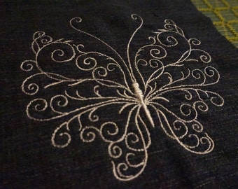 Embroidered Butterfly Denim Patch 003