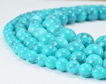 Two Tone Turquoise Blue Color Glass Beads Round 6mm/8mm/10mm/12mm Shine Round Beads For Jewelry Making