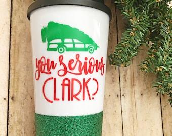 Christmas coffee mug/travel mug/national lampoons/griswold
