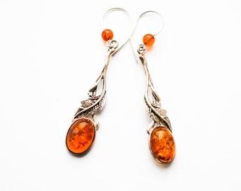 Amber earrings 6g