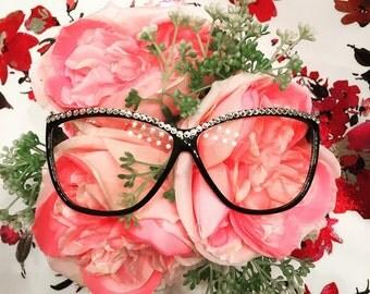 Swarovski crystals decorative glasses