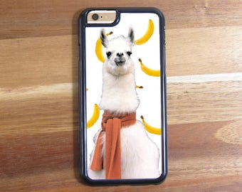 Llama in Scarf Scarve With Bananas! iphone 5 5S 5C Iphone 6 6S 6 Plus Samsung Galaxy S3 S4 S5 S6 Protective Case Shell scarf