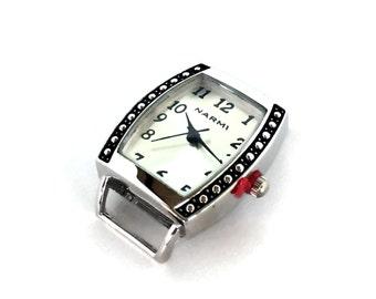 Silver Watch Face / Watch Face / Rectangular Watch Face / Narmi Watch Face / Silver on Silver Watch Face