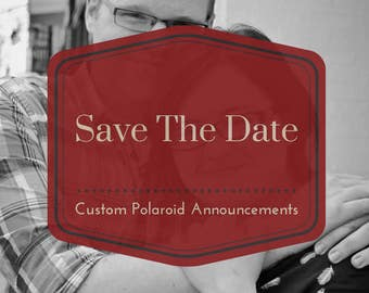 custom save the date | engagement announcment | wedding invitation | retro-style photo with magnet