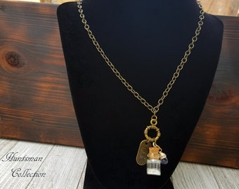 Anchor of Hope Bottle Necklace