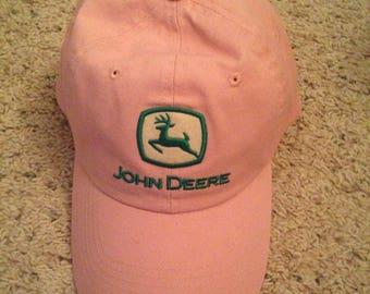 Vintage authentic pink John Deere female hat