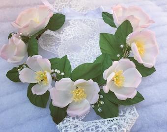 Chaplet Rosary Chaplet Fiori Floral-Wedding Flowers-Flower Wreath-Modern Bride-Modern Floral Wreath Wreath