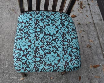 "Accent Shabby Chic Distressed Chair 35""X16""X19"" Side Cottage Decor"