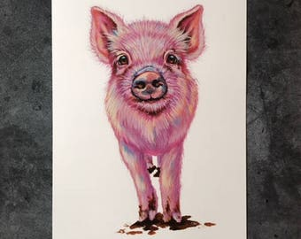 Penelope the Pig - Art Print 11x14
