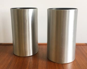 Mid century Modern Aluminum Can Lamps - Pair