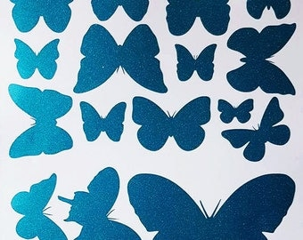 Butterfly Wall Stickers. Butterfly Wall Decal x 24. Assorted Sizes. Butterfly Wall Art. Glitter Colours. FREE UK Shipping
