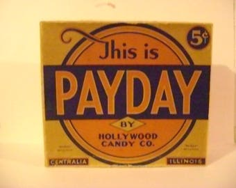 Vintage Pay Day Candy Box