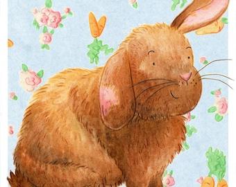 Custom Pet Portrait Illustration, A5 Print
