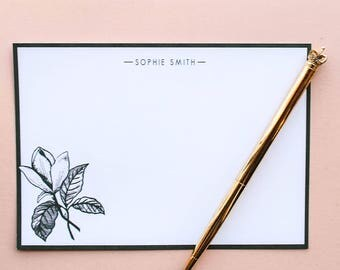 Green Magnolia Personalised Postcard Set